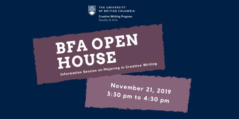 UBC Creative Writing BFA Information Session